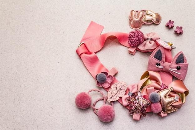 Conjunto de estilo de vida de accesorios de niña