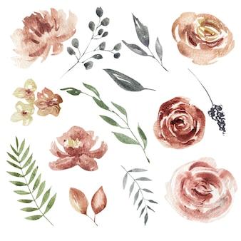 Conjunto floral de primavera