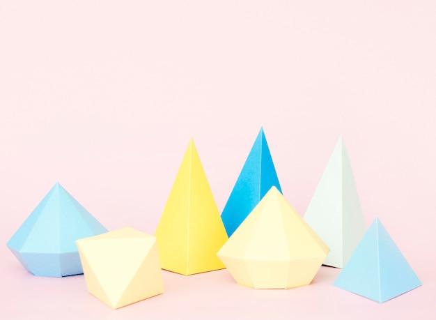 Conjunto de formas geométricas de papel