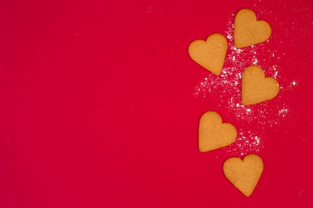 Conjunto de galletas de corazón