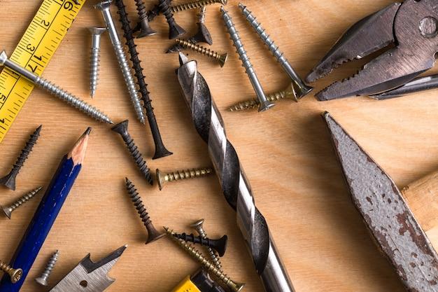 Conjunto de herramientas de trabajo