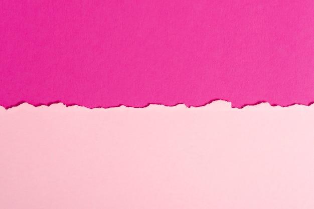Conjunto de hojas de papel rosa tonificado