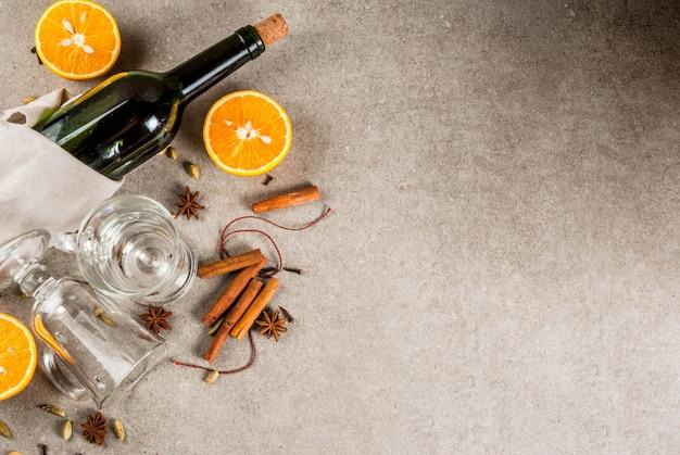 Conjunto de ingredientes para vino caliente