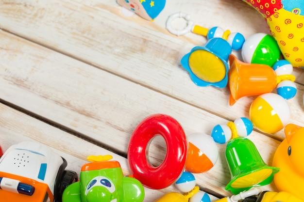 Conjunto de juguetes de los niños