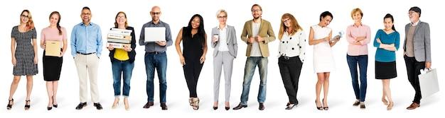 Conjunto de maquetas de personajes de personas diversas
