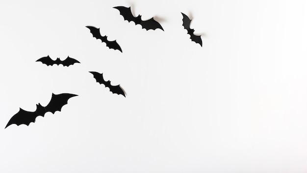 Conjunto de murciélagos de papel