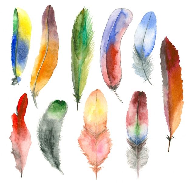 Conjunto de plumas de acuarela