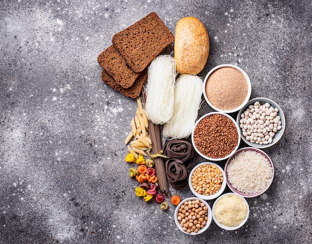 Conjunto de productos sin gluten.