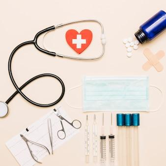 Conjunto de suministros médicos