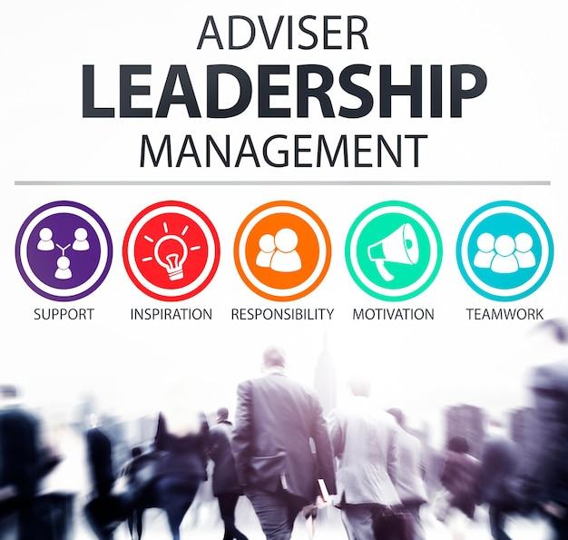 Consejero director de gestión de liderazgo concepto de responsabilidad Foto gratis