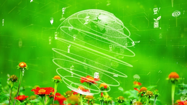 Conservación ambiental futura y desarrollo sostenible de la modernización de esg