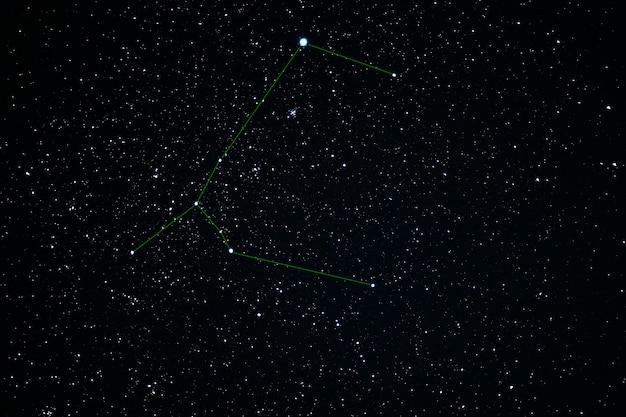 Constelación de canis major. star cluster messier 41