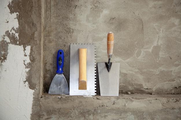 Construcción de herramientas de llana de acero inoxidable y espátula