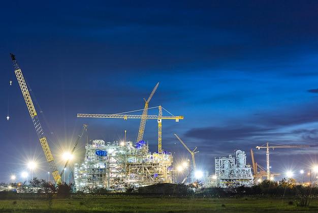 Construcción de industria de plantas químicas