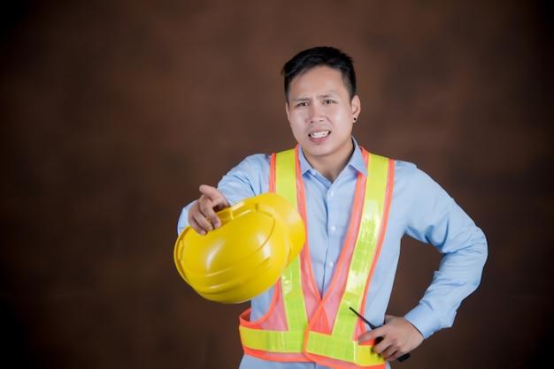 Construcción, ingeniería de concepto de trabajo.