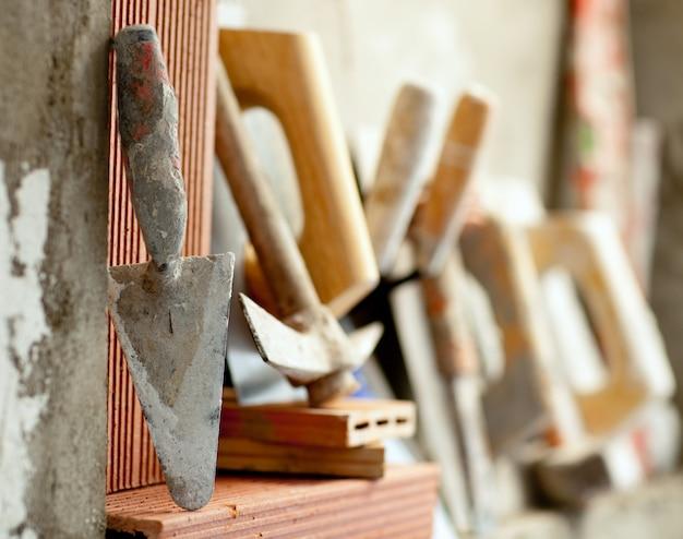 Construcción de mortero de cemento herramientas de mortero.