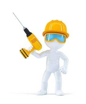 Constructor con taladro.