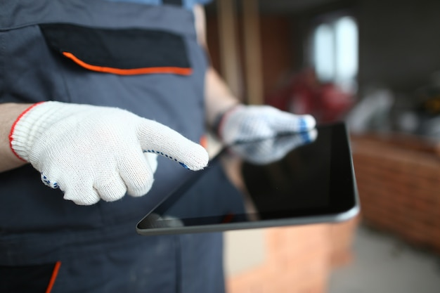 Constructor usando tableta