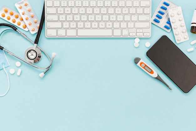 Consultorio médico espacio de copia