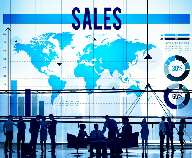 Contabilidad de ventas financial selling banking concept