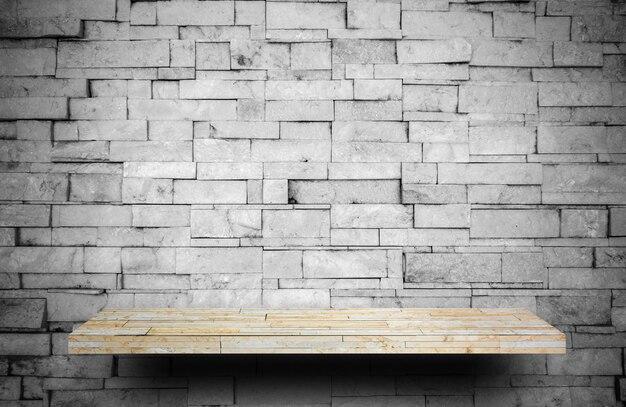Contador de estantes de piedra roca en capa de roca gris para exhibición de productos