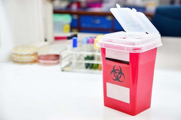 Contenedor de eliminación; reducir la eliminación de desechos médicos