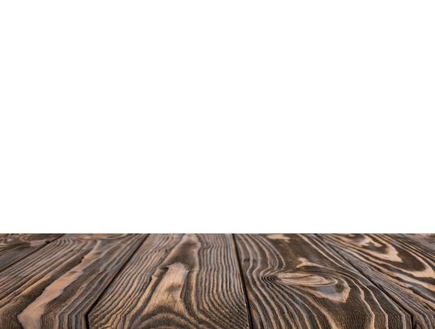 Contexto texturizado marrón de madera aislado en el fondo blanco