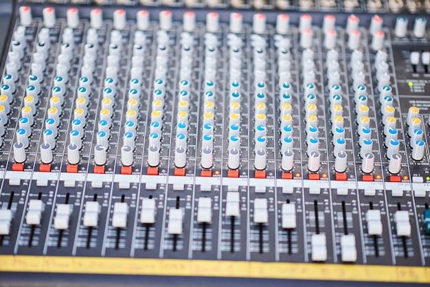 Control profesional del productor de sonido