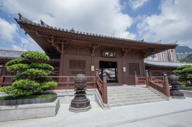 Convento de chi lin, templo de estilo de la dinastía tang, hong kong
