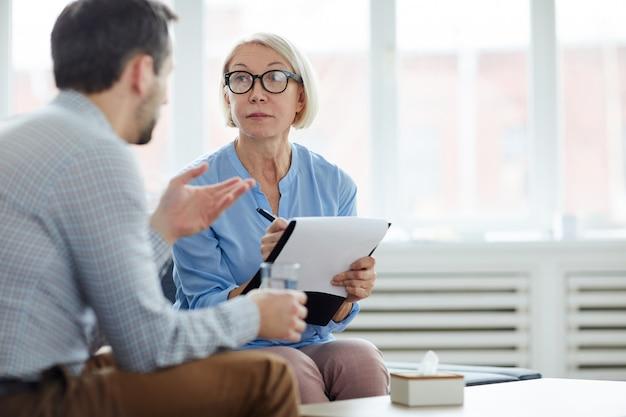 Conversación con el paciente