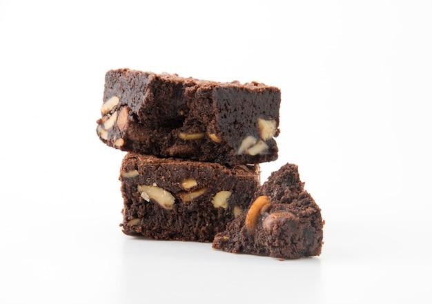 Cookie cacao malsano cuadrado casero