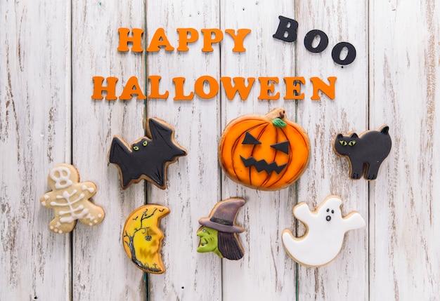 Cookies y subtítulos de happy halloween