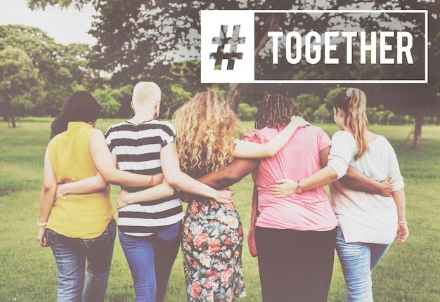 Cooperación sociedad comunidad social juntos