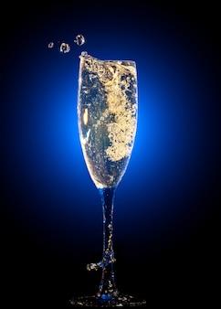 Copa de champagne con toques