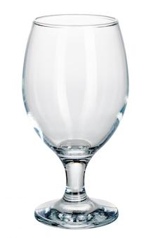 Copa de vino vacía aislado sobre un fondo blanco.