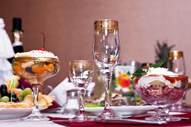 Copas de vino de mesa para vino