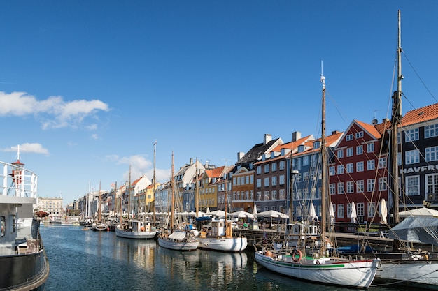 Copenhague, dinamarca. puerto de nyhavn