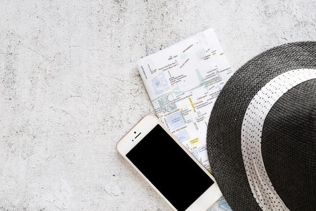 Copia espacio con accesorios de viaje.