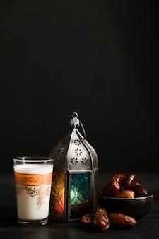 Copia-espacio celebración del día de ramadán