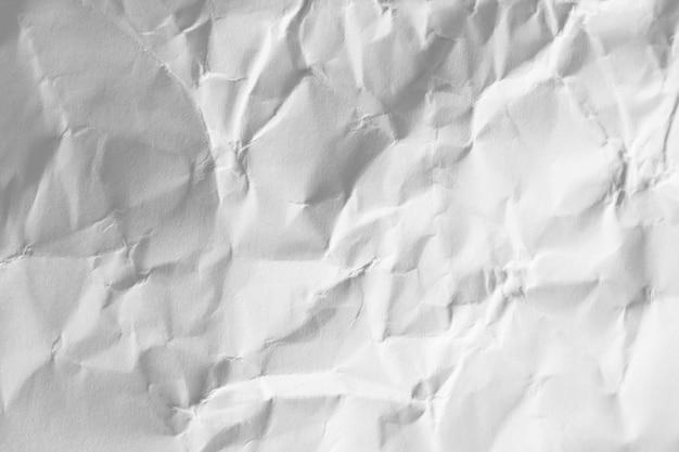 Copia espacio papel blanco arrugado