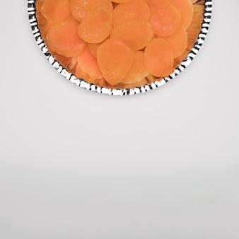 Copia espacio snack en la mesa