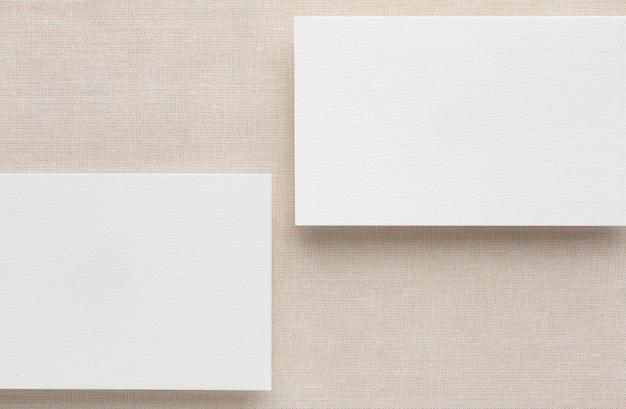 Copia espacio tarjeta de visita blanca