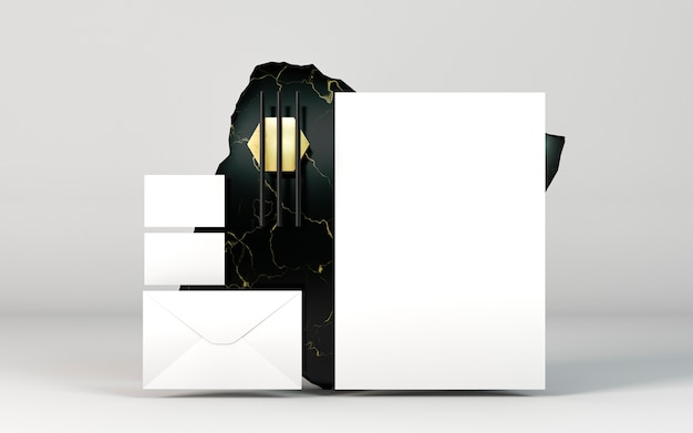 Copia espacio vista frontal de documentos de papelería