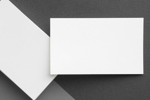 Copia espacio vista superior de la tarjeta de visita