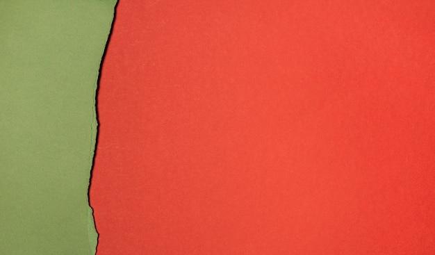 Copiar capas espaciales de papel vista superior