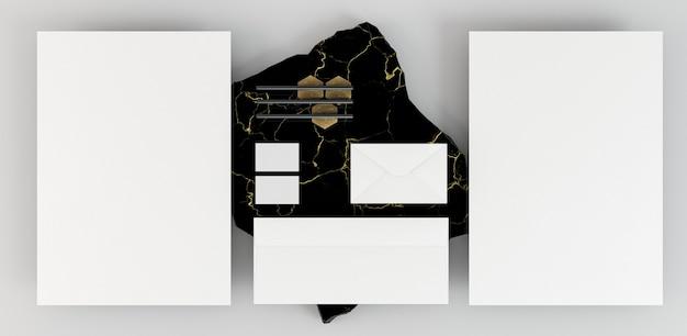 Copiar documentos de papelería espacio y mármol