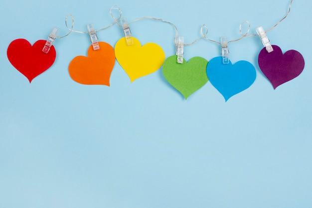 Copiar espacio corazones en cadena