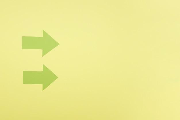 Copiar espacio flechas verdes