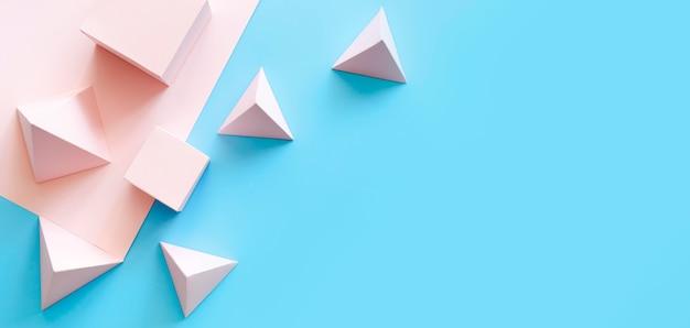 Copiar-espacio de objetos de papel geométricos