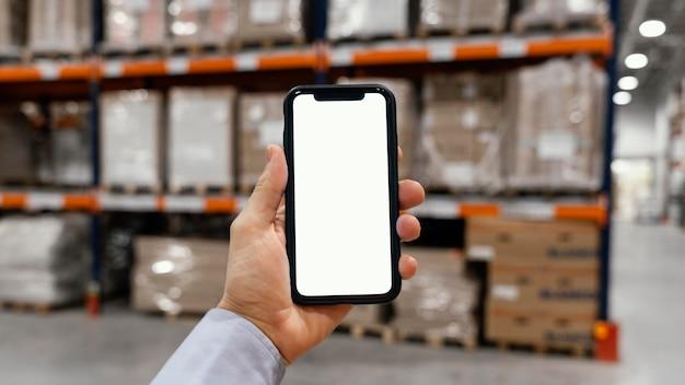 Copiar el espacio de la pantalla móvil en blanco